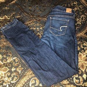 American Eagle Dark Wash Skinny Jeans- sz 8